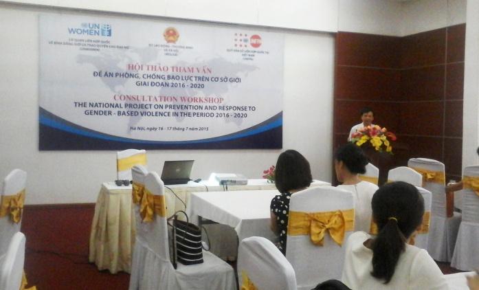 Hội thảo: Tham vấn Đề án phòng, chống bạo lực trên cơ sở giới giai đoạn 2016-2020