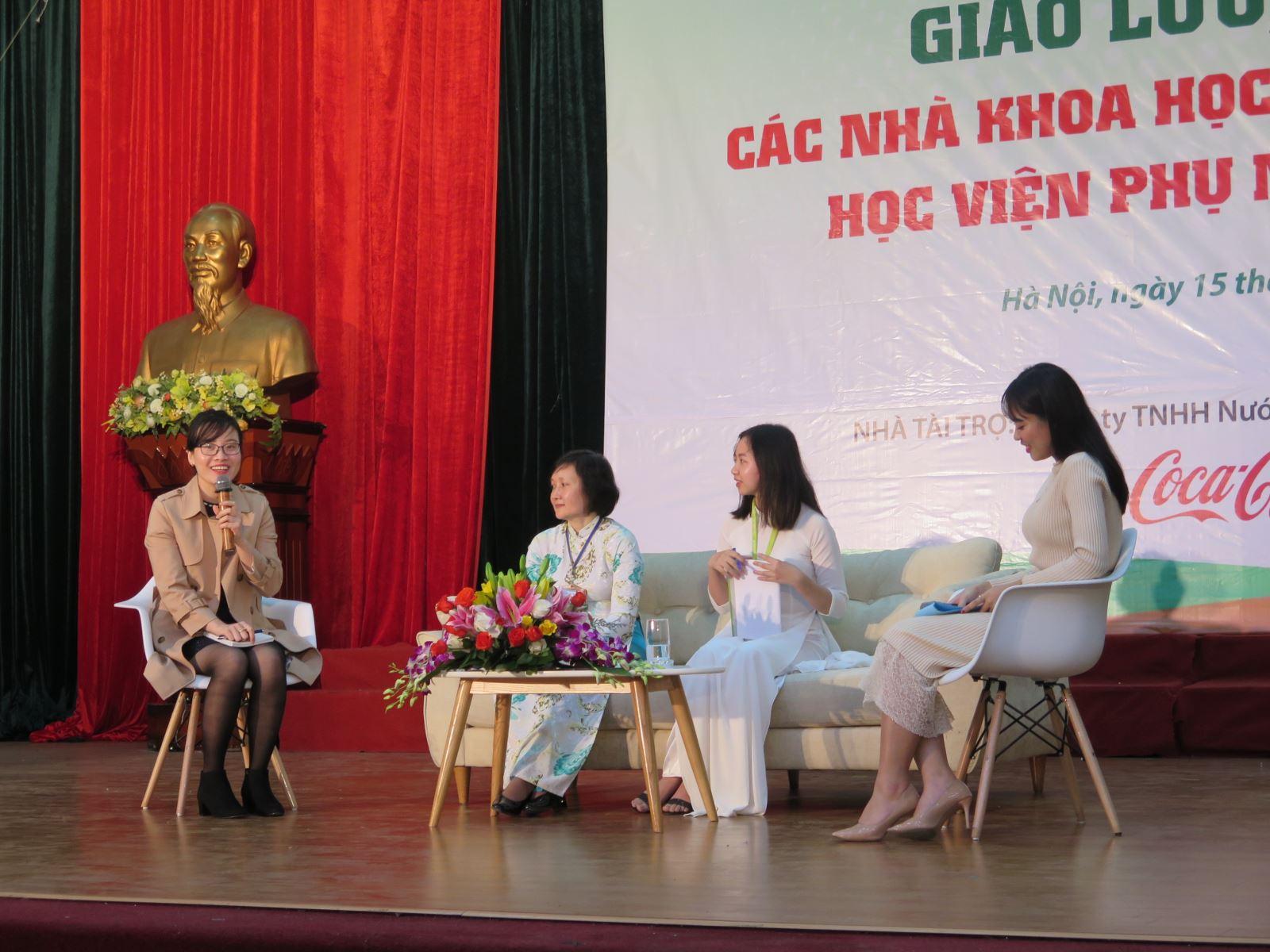 Giao lưu, gặp gỡ nhà khoa học nữ với nữ sinh và sinh viên Học viện Phụ nữ Việt Nam