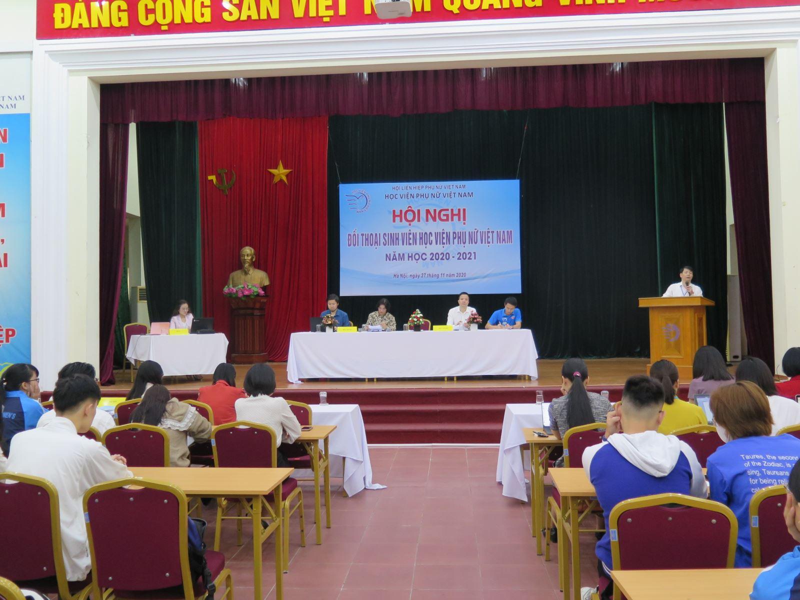 Hội nghị đối thoại với sinh viên năm học 2020 - 2021