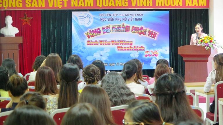 Kết thúc Vòng sơ khảo cuộc thi: Sinh viên tài năng thanh lịch Học viện Phụ nữ Việt Nam