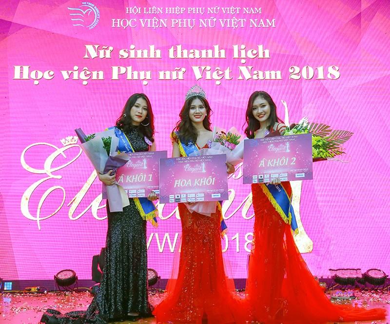 Chung kết cuộc thi: Nữ sinh thanh lịch Học viện Phụ nữ Việt Nam 2018