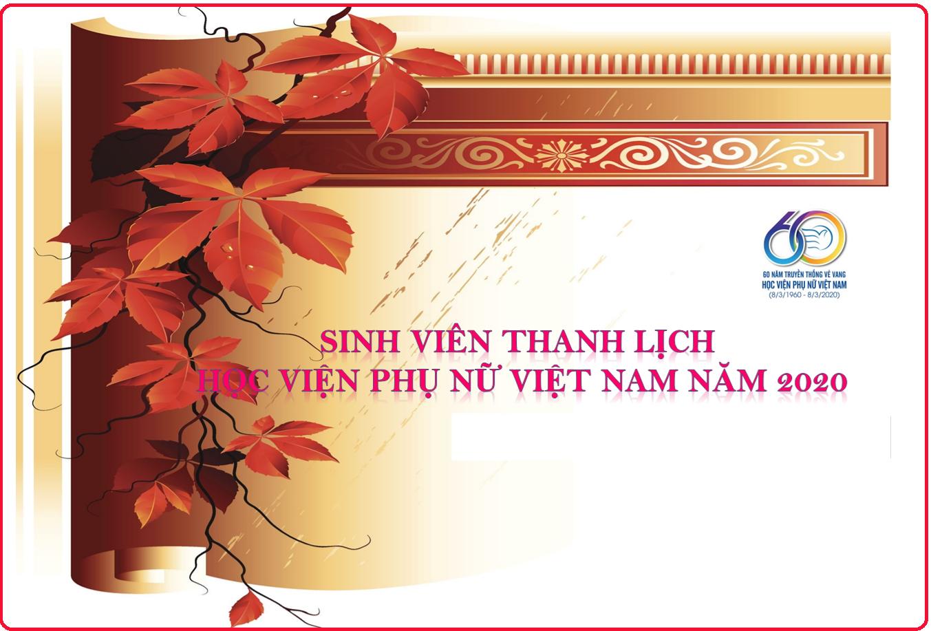 """Kế hoạch tổ chức cuộc thi: """"Sinh viên thanh lịch Học viện Phụ nữ Việt Nam 2020"""""""