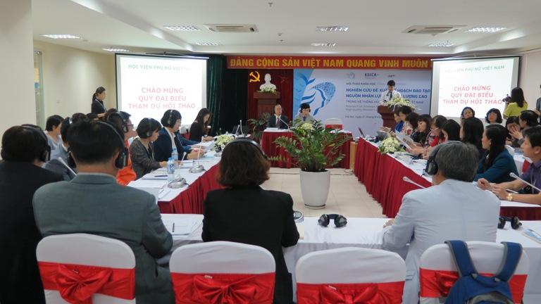 Học viện Phụ nữ Việt Nam tổ chức hội thảo đề xuất giải pháp phát triển nguồn nhân lực nữ chất lượng cao