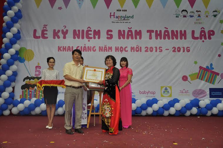 Lễ kỷ niệm 5 năm thành lập trường mầm non HappyLand và Khai giảng năm học mới 2015 – 2016