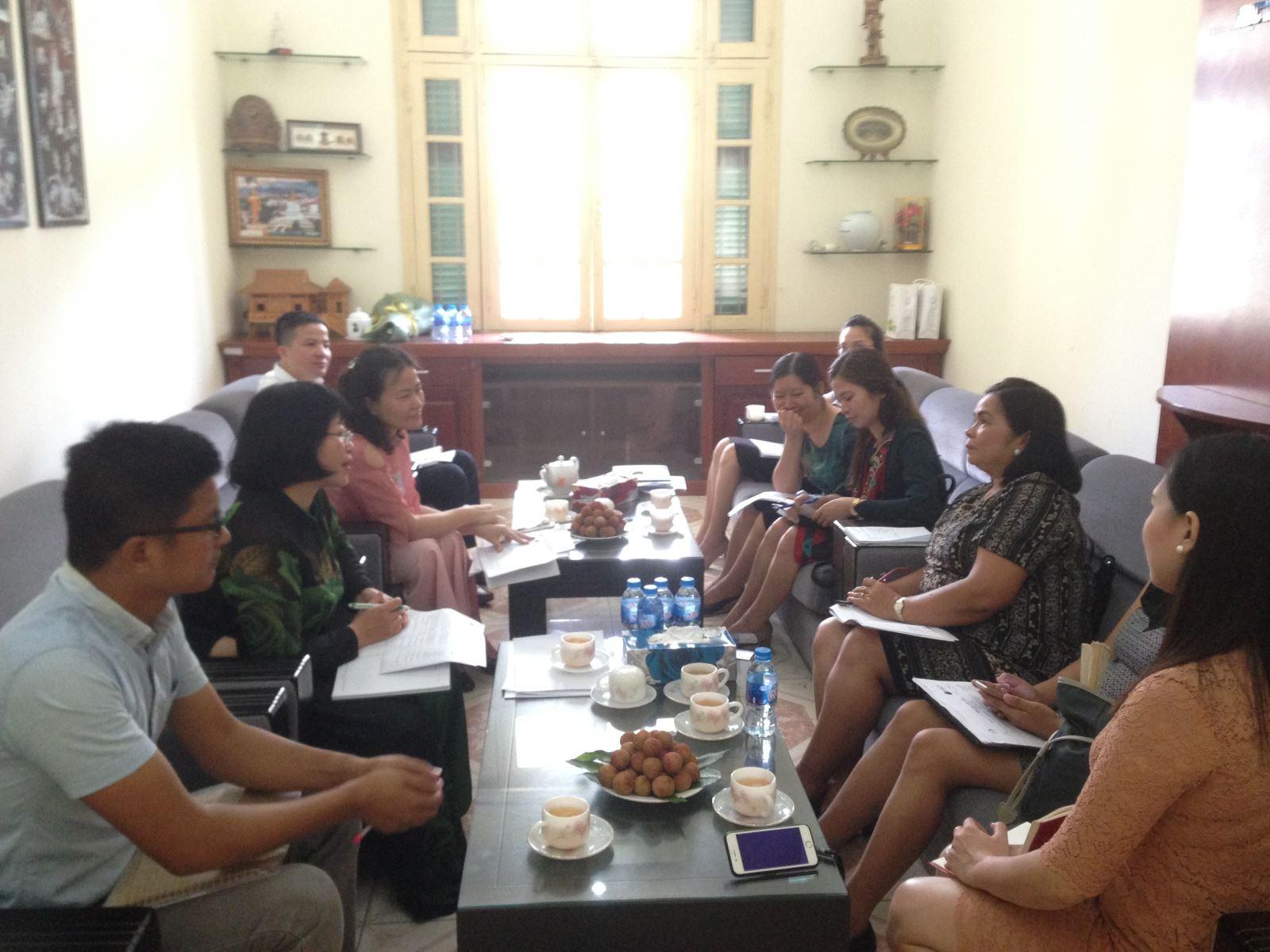 Học viện Phụ nữ Việt Nam làm việc với Trung phát triển nông nghiệp và nông thôn Philippine (CARD MRI)