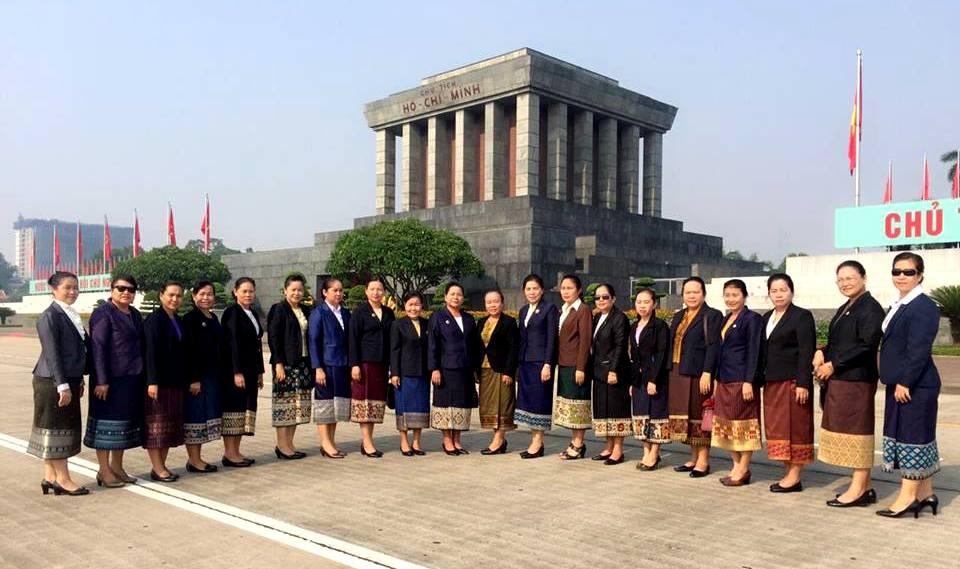 Phóng sự ảnh: Cán bộ Hội LHPN Lào học tập tại Học viện Phụ nữ Việt Nam