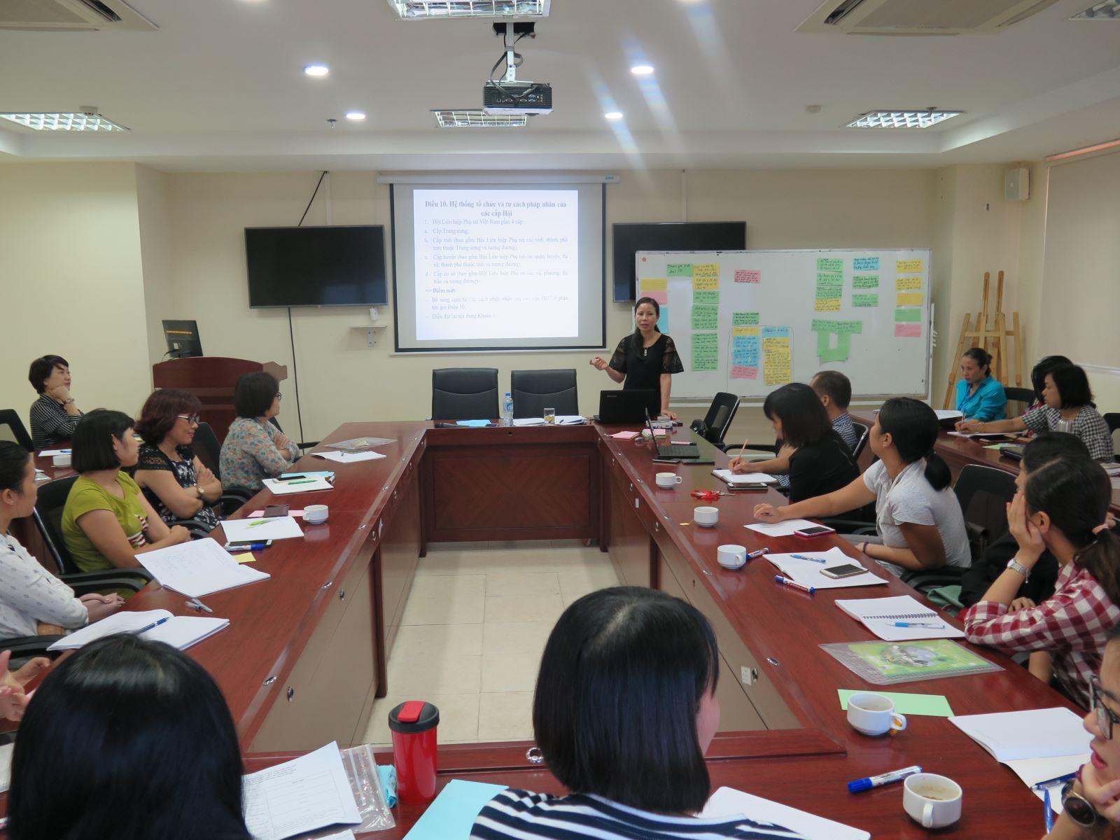 Học viện Phụ nữ Việt Nam tổ chức lớp bồi dưỡng nghiệp vụ công tác Hội Phụ nữ
