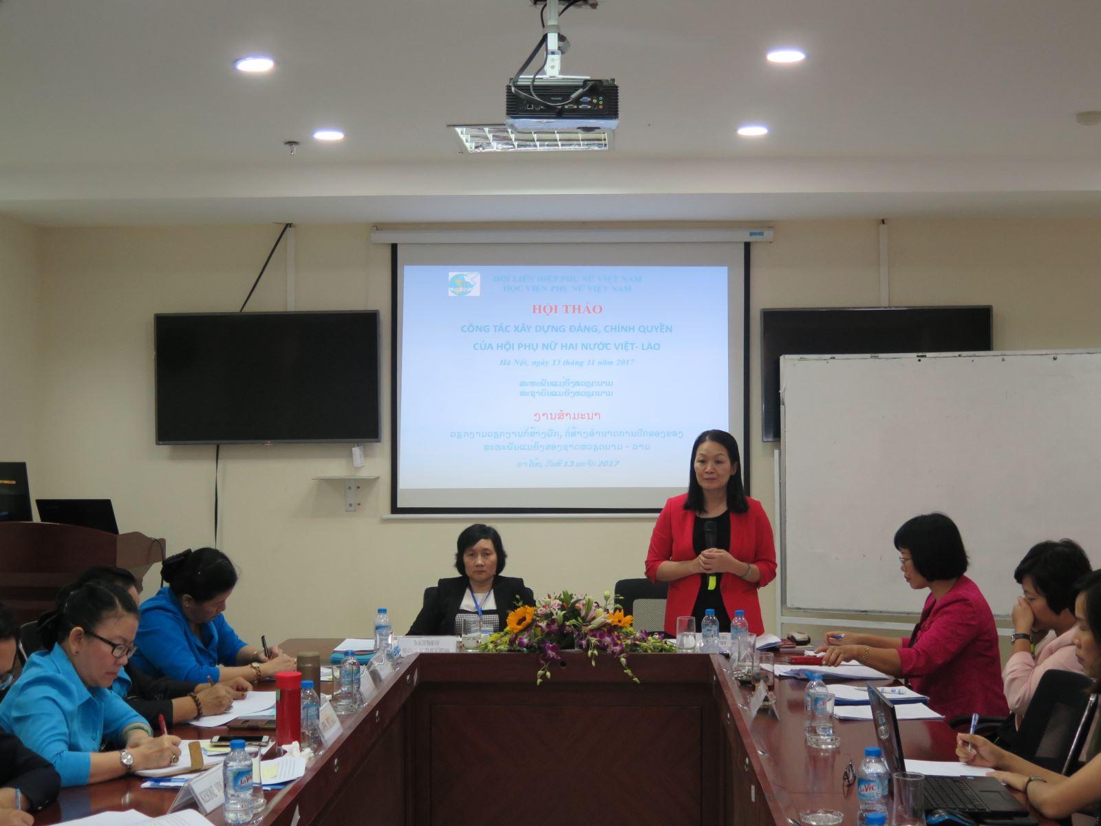 Hội thảo: Chia sẻ kinh nghiệm tham gia xây dựng Đảng, xây dựng Chính quyền của Hội Liên hiệp Phụ nữ Việt Nam và Hội Liên hiệp Phụ nữ Lào