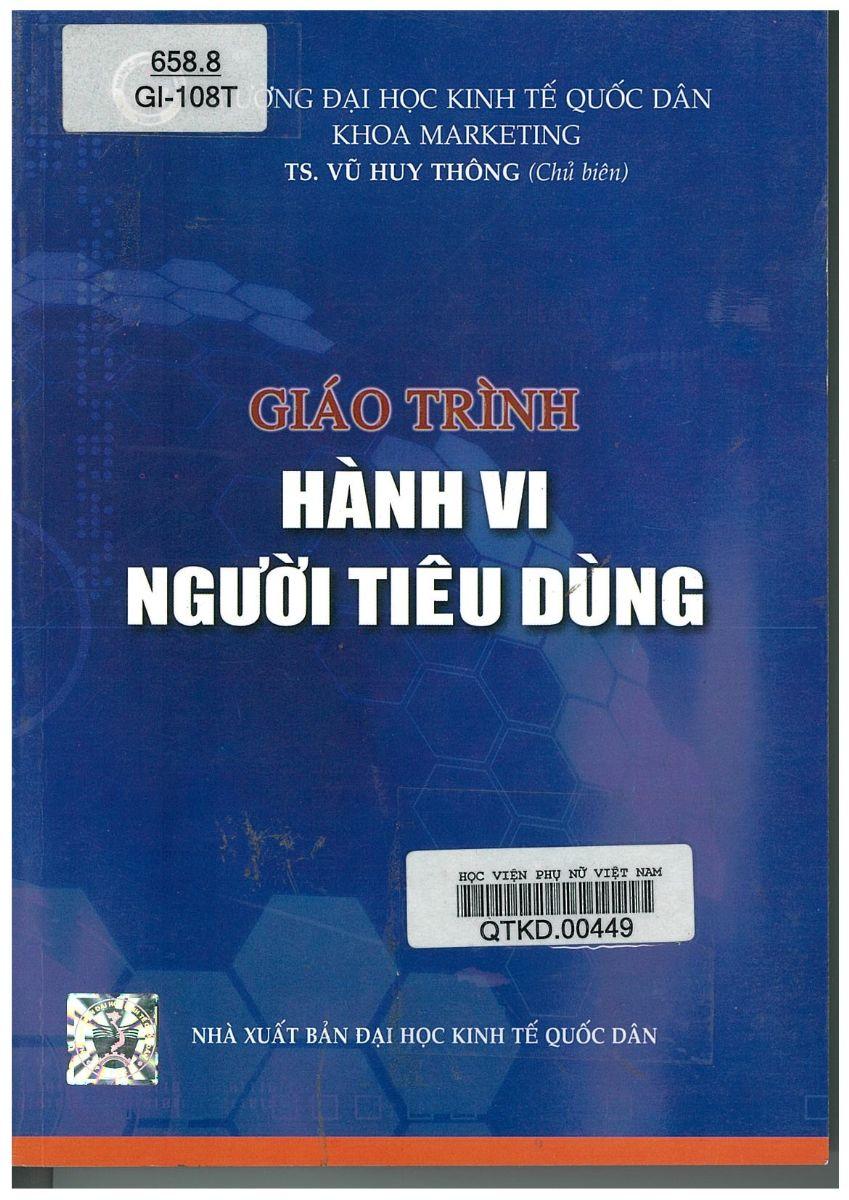 Giới thiệu sách: Giáo trình Hành vi người tiêu dùng