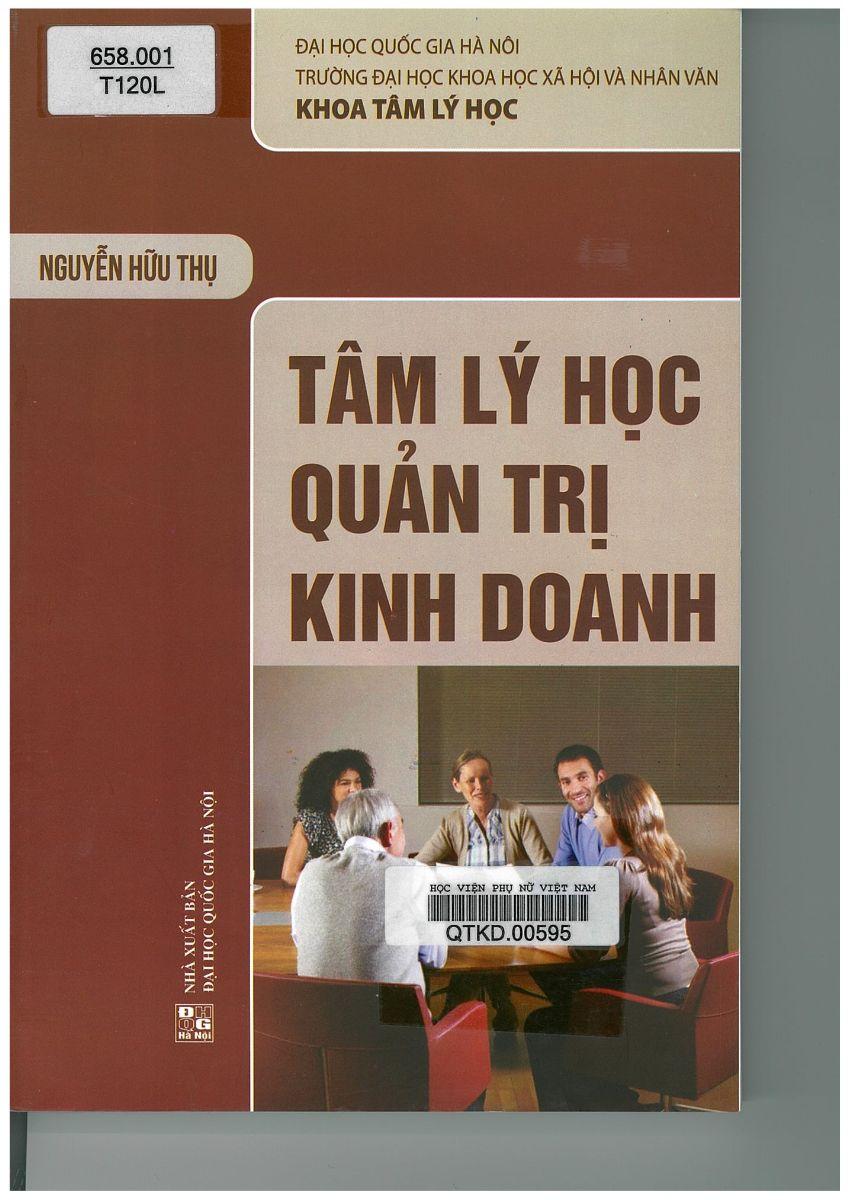 Giới thiệu sách: Tâm lý học quản trị kinh doanh