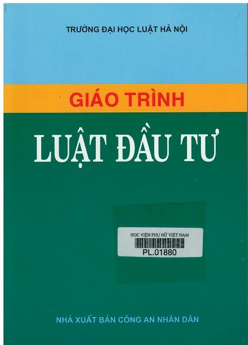 Giới thiệu sách: Giáo trình Luật đầu tư
