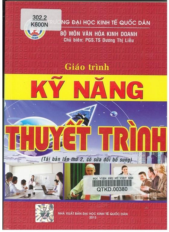 Giới thiệu sách: Giáo trình Kỹ năng thuyết trình