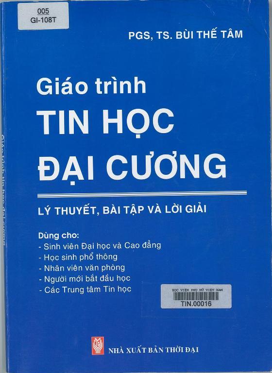 Giới thiệu sách: Giáo trình Tin học đại cương