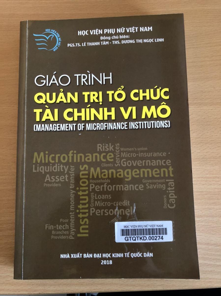 Giới thiệu sách: Giáo trình Quản trị tổ chức tài chính vi mô