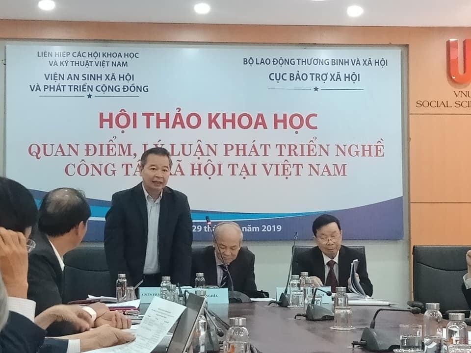 """Hội thảo khoa học """"Quan điểm, lý luận phát triển nghề Công tác xã hội tại Việt Nam"""""""