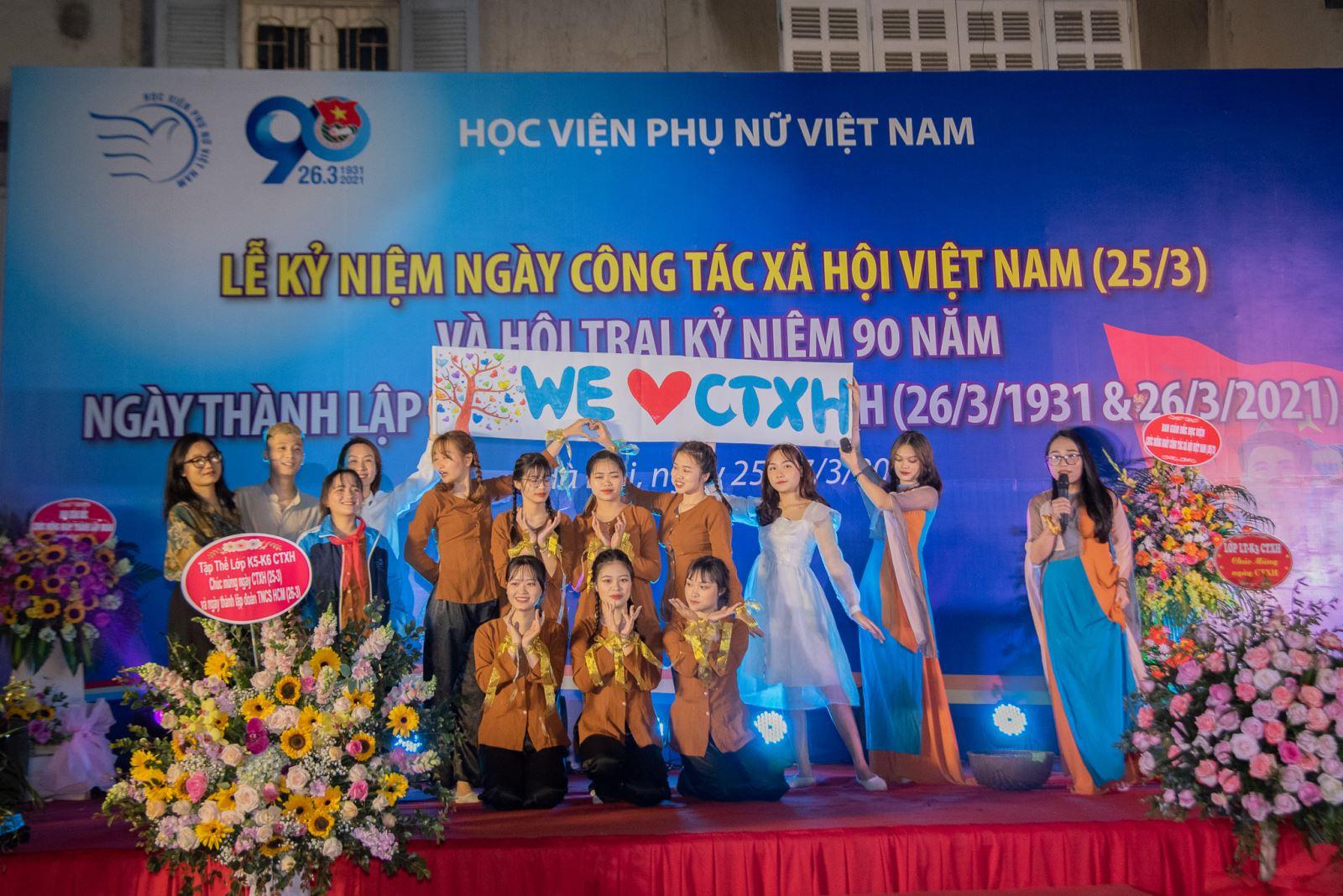 Học viện Phụ nữ Việt Nam tổ chức lễ Kỷ niệm ngày Công tác xã hội Việt Nam
