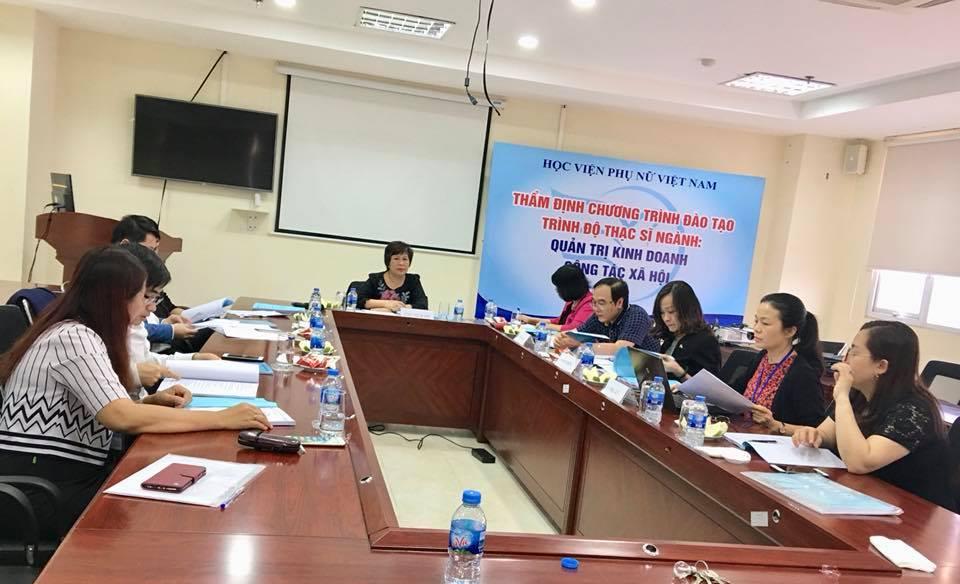 Hội nghị thẩm định chương trình đào tạo thạc sĩ ngành Công tác xã hội
