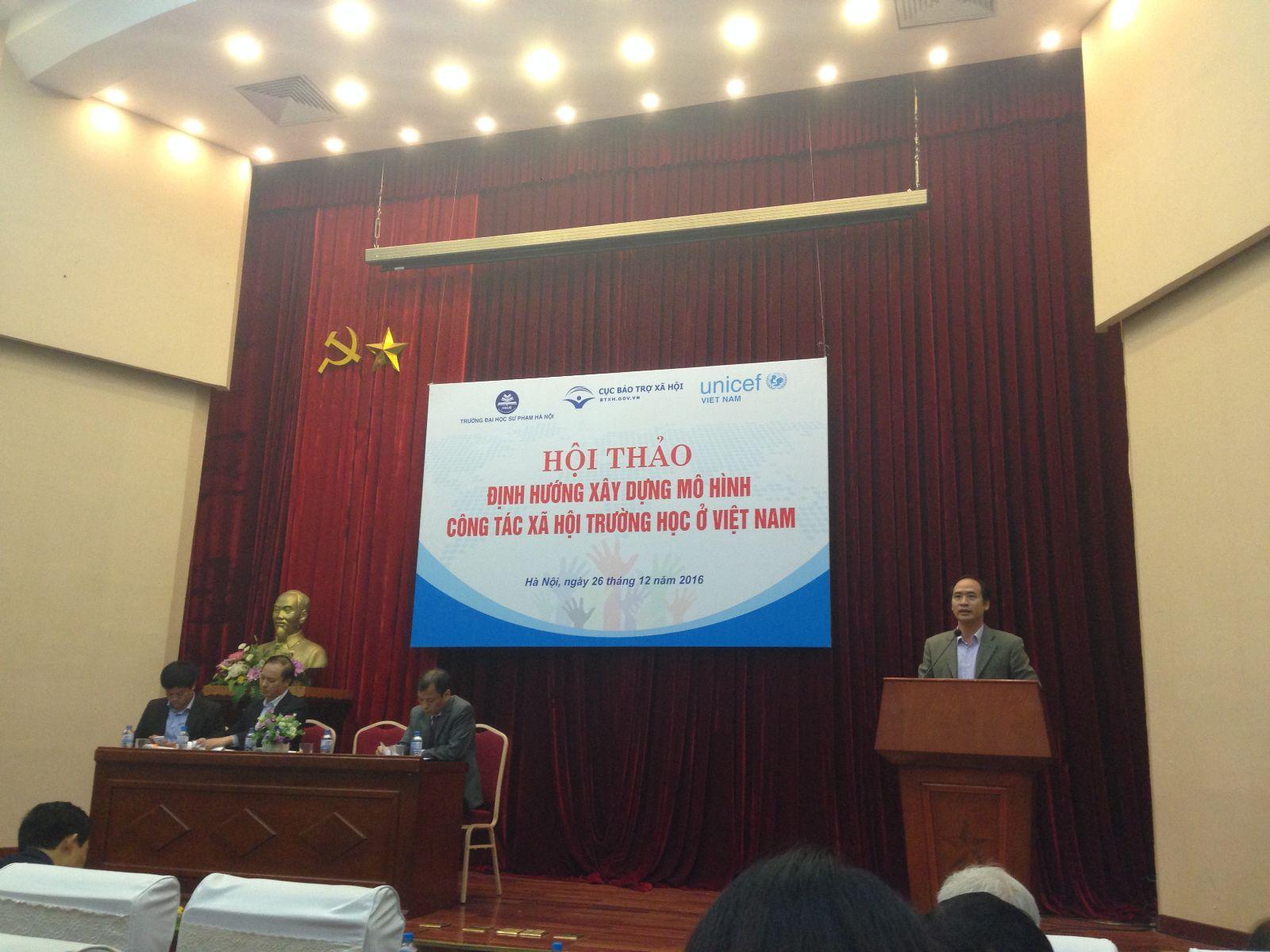 Hội thảo định hướng xây dựng mô hình công tác xã hội trường học ở Việt Nam