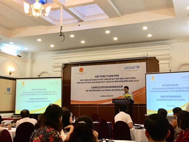 Hội thảo tham vấn xây dựng kế hoạch thực hiện đề án: Đổi mới, phát triển trợ giúp xã hội