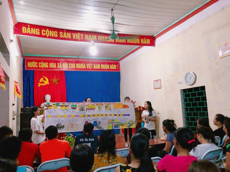 Tổ chức thực hành Phát triển cộng đồng cho sinh viên khóa 4, ngành Công tác xã hội, Học viện Phụ nữ Việt Nam