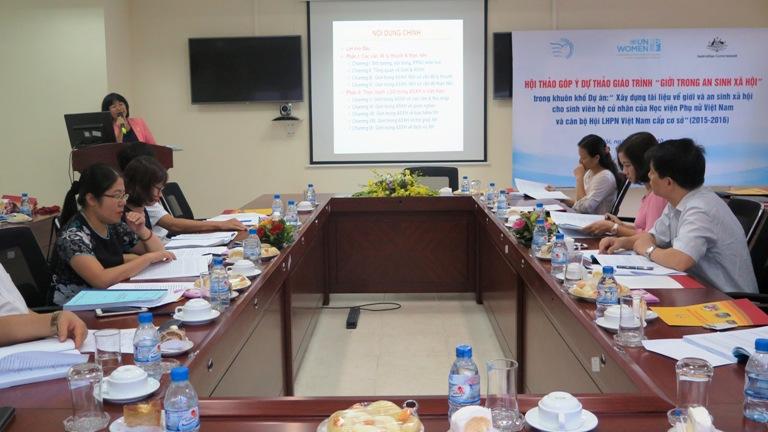 """Học viện Phụ nữ Việt Nam tổ chức Hội thảo góp ý Dự thảo Giáo trình: """"Giới trong an sinh xã hội"""""""