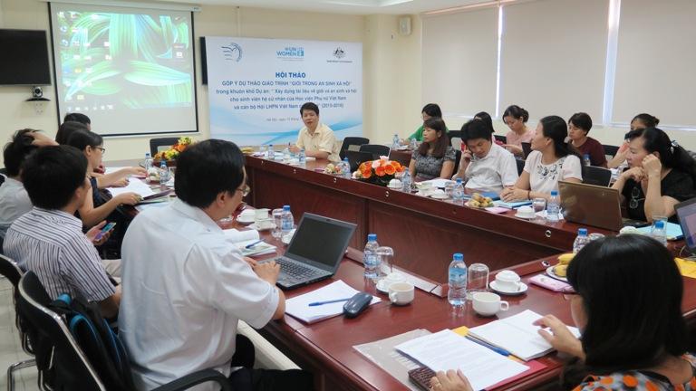 Hội thảo Góp ý dự thảo giáo trình Giới trong An sinh xã hội