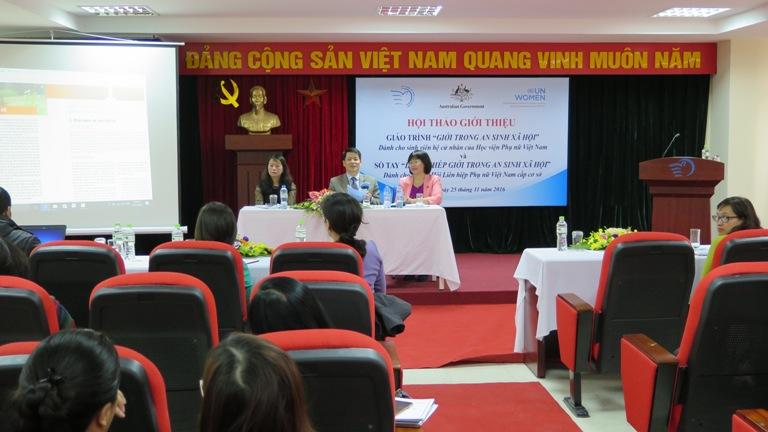 Hội thảo giới thiệu Giáo trình và Sổ tay về Giới & An sinh Xã hội