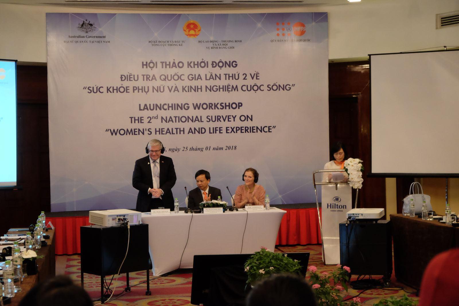 """Khởi động Điều tra quốc gia lần thứ 2 về """"Sức khỏe phụ nữ và kinh nghiệm cuộc sống"""" tại Việt Nam"""