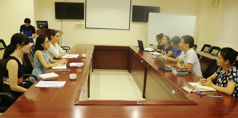 Học viện Phụ nữ Việt Nam tiếp đoàn đại biểu của tổ chức ActionAid