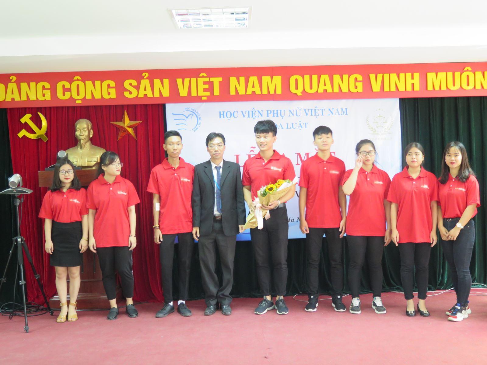 Sự kiện ra mắt Câu lạc bộ nghề Luật, Học viện Phụ nữ Việt Nam