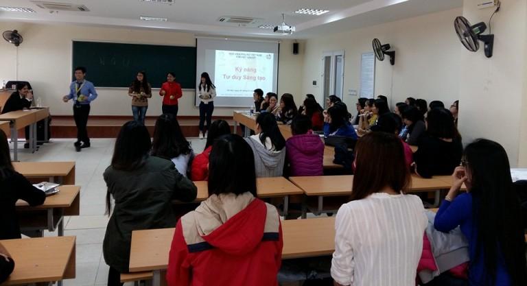 Lớp học Kỹ năng Tư duy sáng tạo & Giải tỏa Stress dành cho sinh viên  K1 Khoa Quản trị kinh doanh