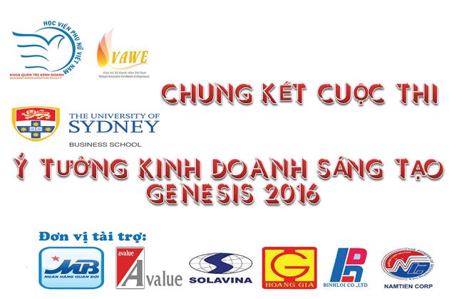 """Vòng chung kết cuộc thi """"Ý tưởng kinh doanh sáng tạo Genesis 2016"""""""