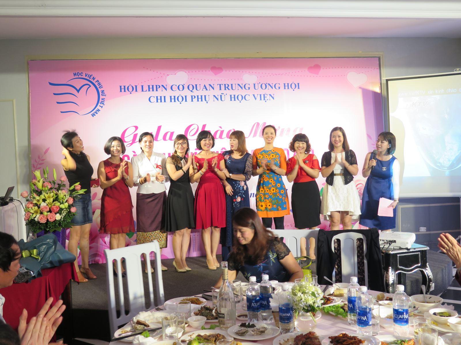 Chi hội Phụ nữ Học viện tổ chức Gala chào mừng ngày Phụ nữ Việt Nam 20/10