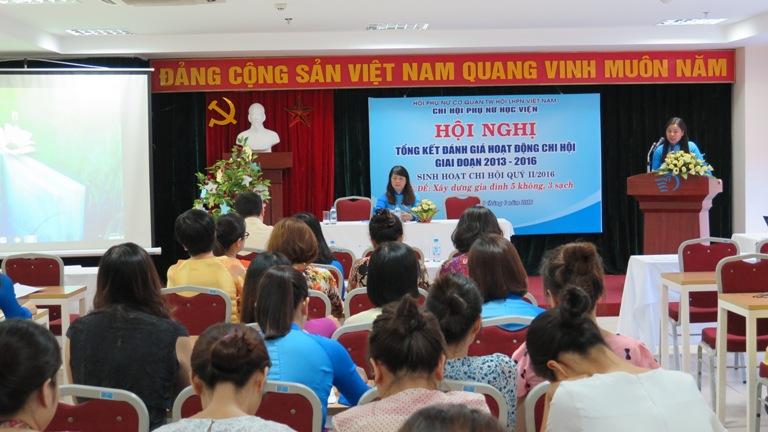 Hội nghị tổng kết hoạt động Chi hội Phụ nữ Học viện Phụ nữ Việt Nam 2013 – 2016