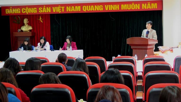 Hội nghị tổng kết Công đoàn Học viện Phụ nữ Việt Nam năm 2015