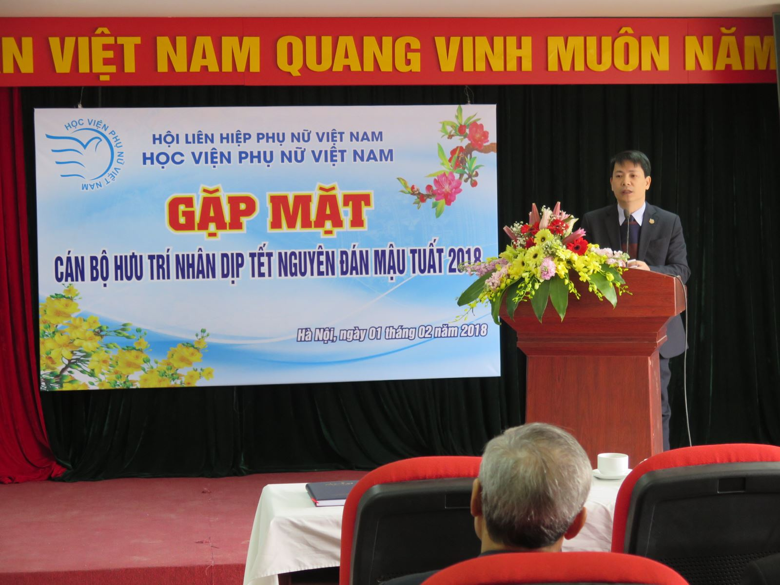 Học viện Phụ nữ Việt Nam tổ chức gặp mặt chúc Tết cán bộ hưu trí