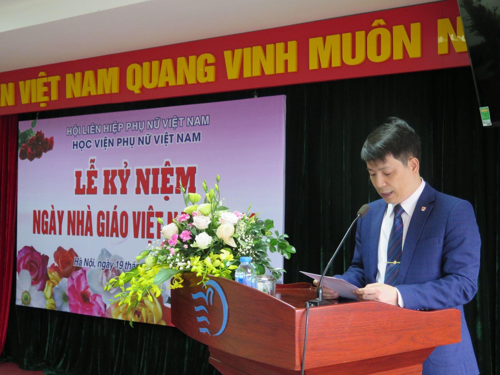 Diễn Văn kỷ niệm ngày Nhà giáo Việt Nam 20/11/2018