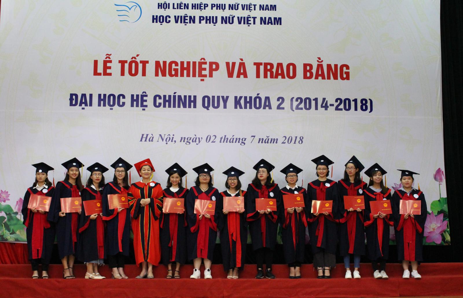 Phóng sự ảnh: Học viện Phụ nữ Việt Nam trao bằng cho 174 cử nhân khóa 2