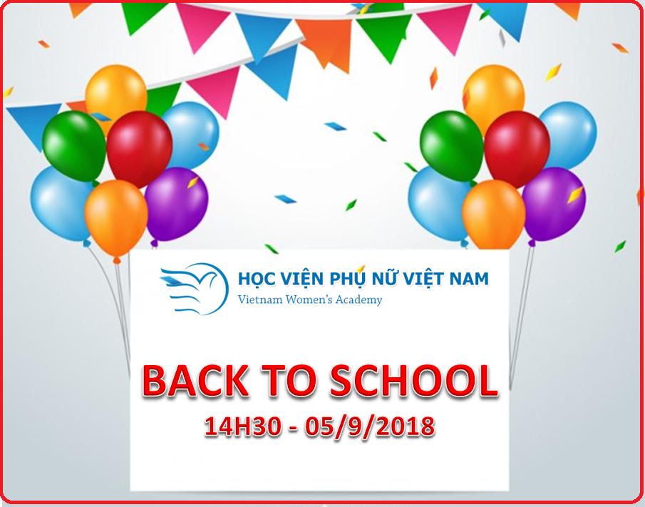 Học viện Phụ nữ Việt Nam chào mừng năm học mới 2018 – 2019