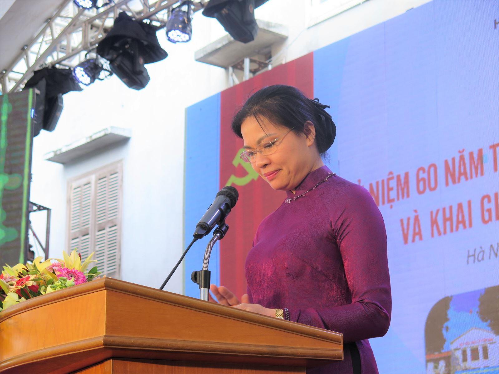 Chủ tịch Hội LHPNVN chúc mừng 60 năm ngày truyền thống Học viện Phụ nữ Việt Nam