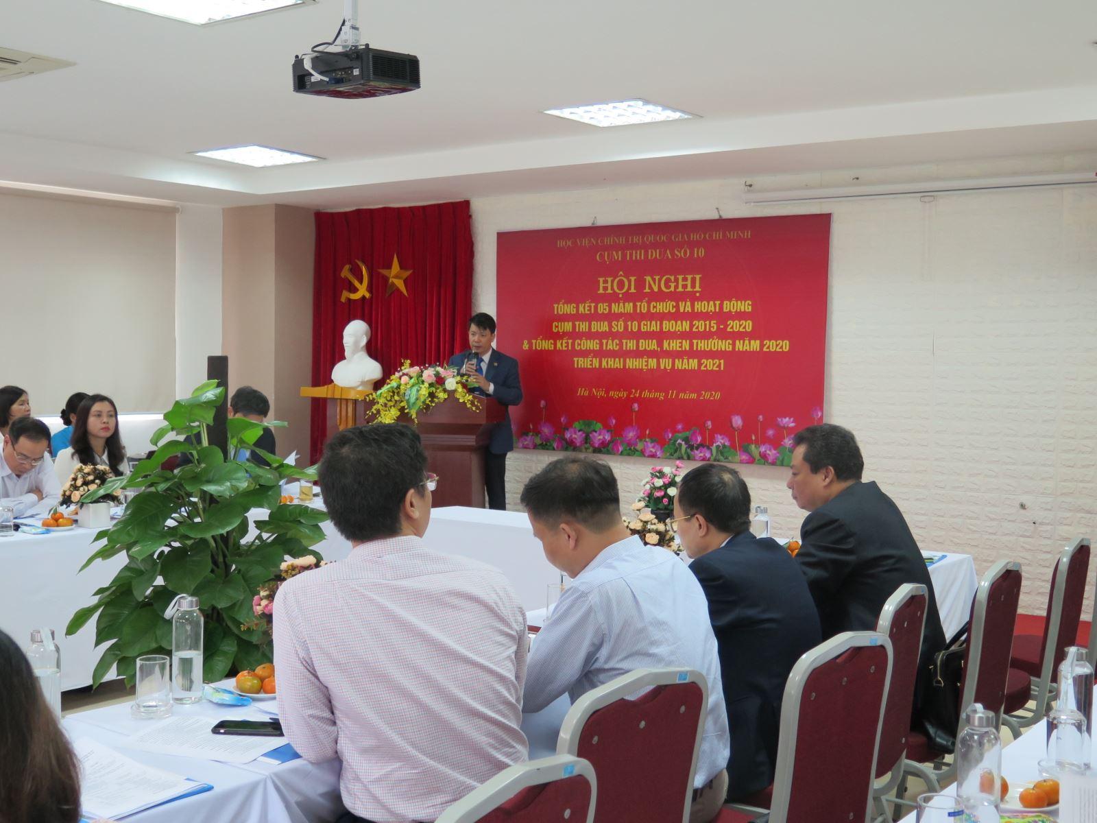 Cụm thi đua số 10 tổ chức Hội nghị tổng kết 05 năm (2015-2020) và triển khai nhiệm vụ năm 2021