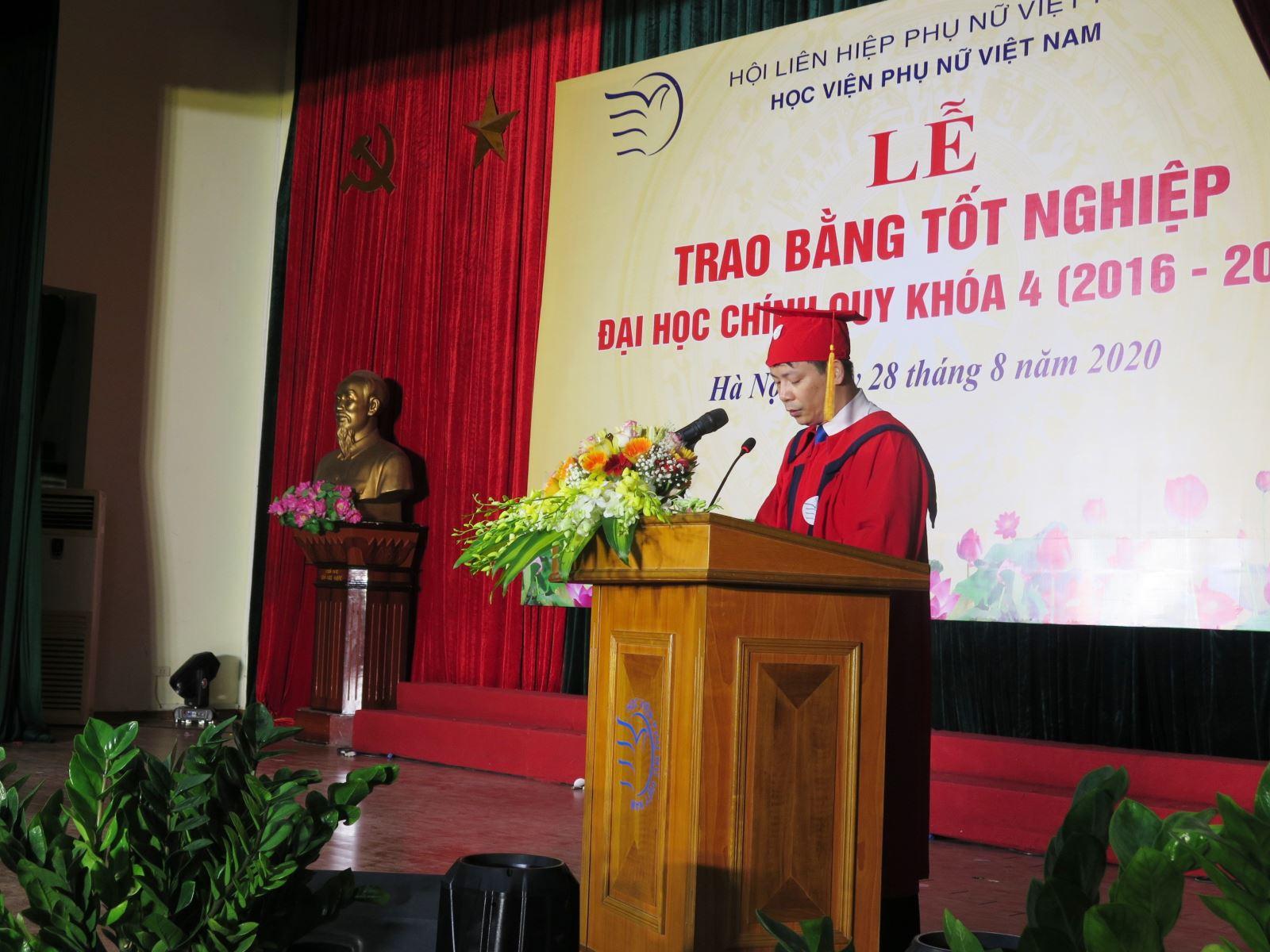Diễn văn Lễ bế giảng và trao bằng tốt nghiệp khóa 4