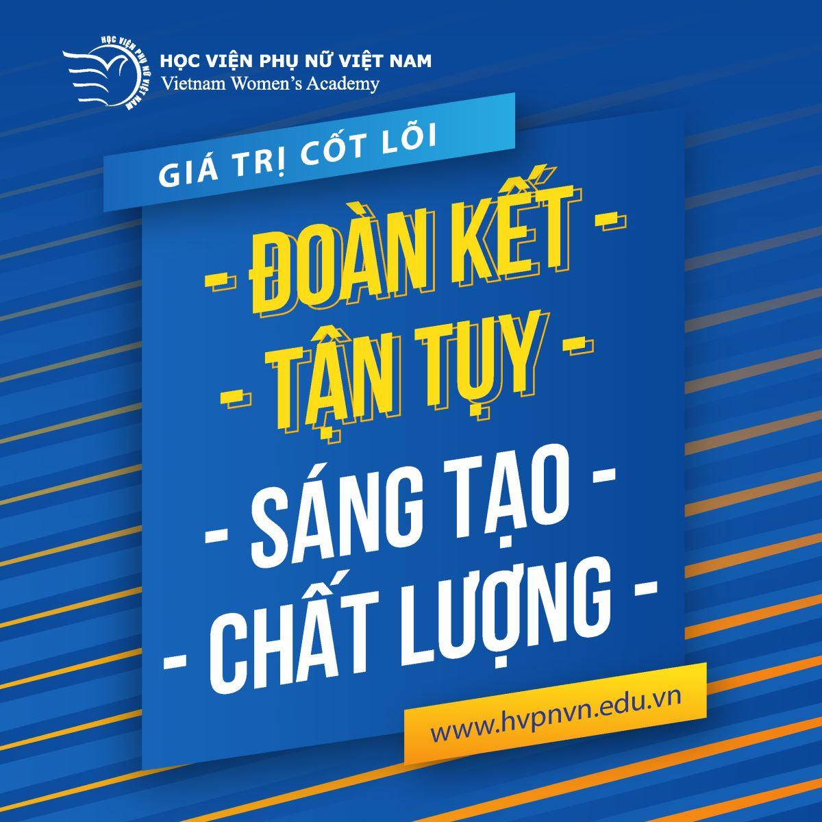 Giá trị cốt lõi của Học viện Phụ nữ Việt Nam