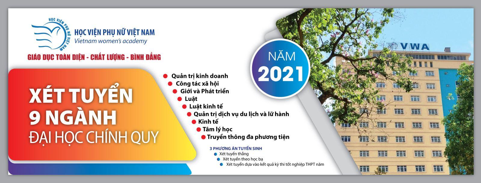 Học viện Phụ nữ Việt Nam tăng chỉ tiêu tuyển sinh năm 2021