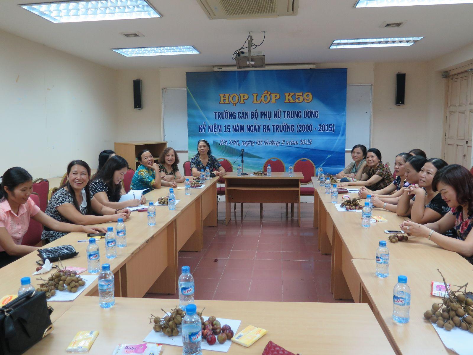 15  năm ngày hội ngộ k59 – Trường Cán bộ Phụ nữ TW