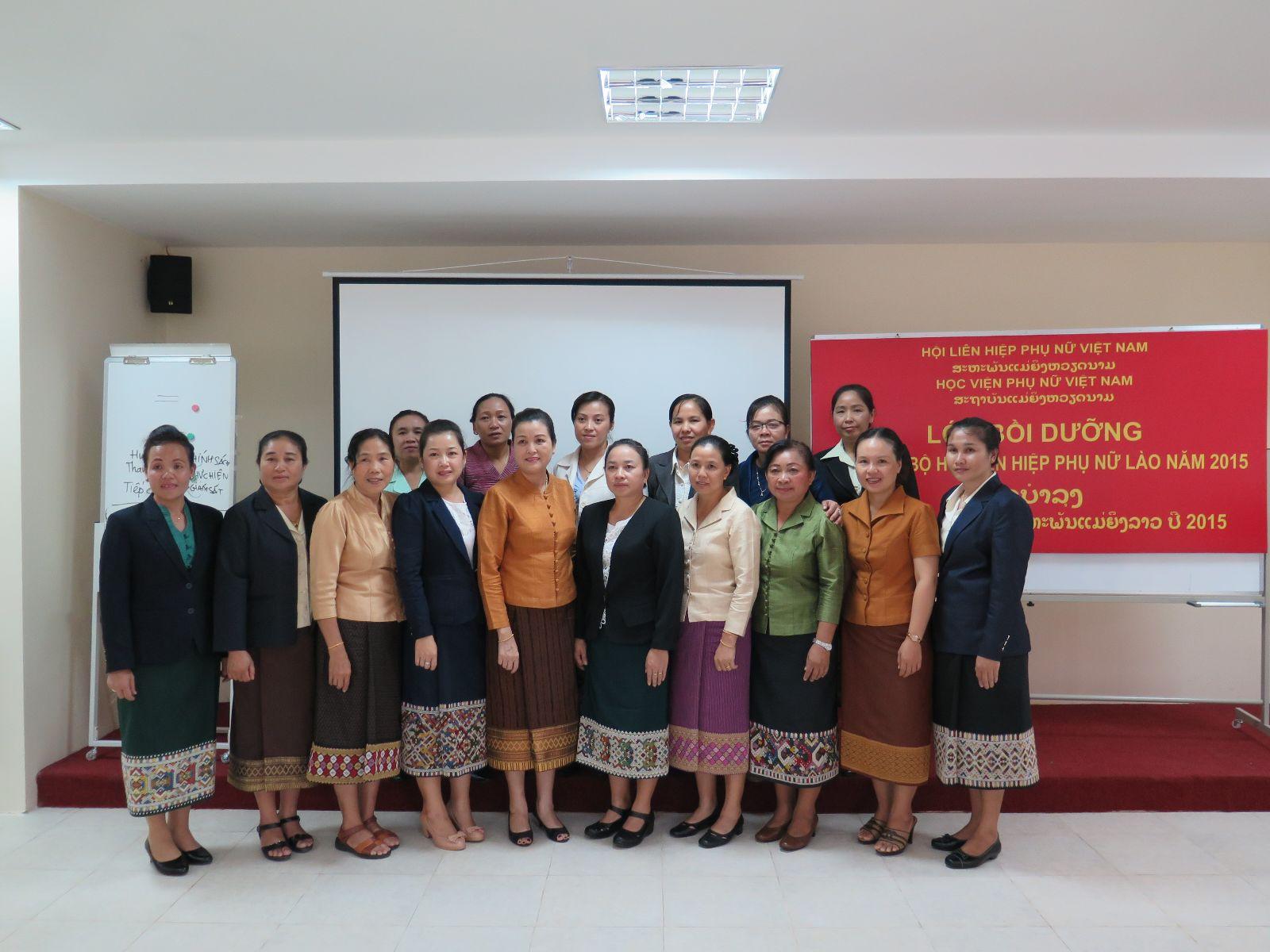 Khai giảng lớp bồi dưỡng cán bộ Hội Phụ nữ nước Cộng hòa dân chủ nhân dân Lào
