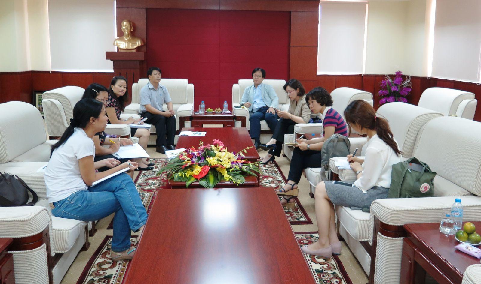 Học viện Phụ nữ Việt Nam làm việc với trường Đại học Tổng hợp Chung – Ang về vấn đề  hợp tác nghiên cứu