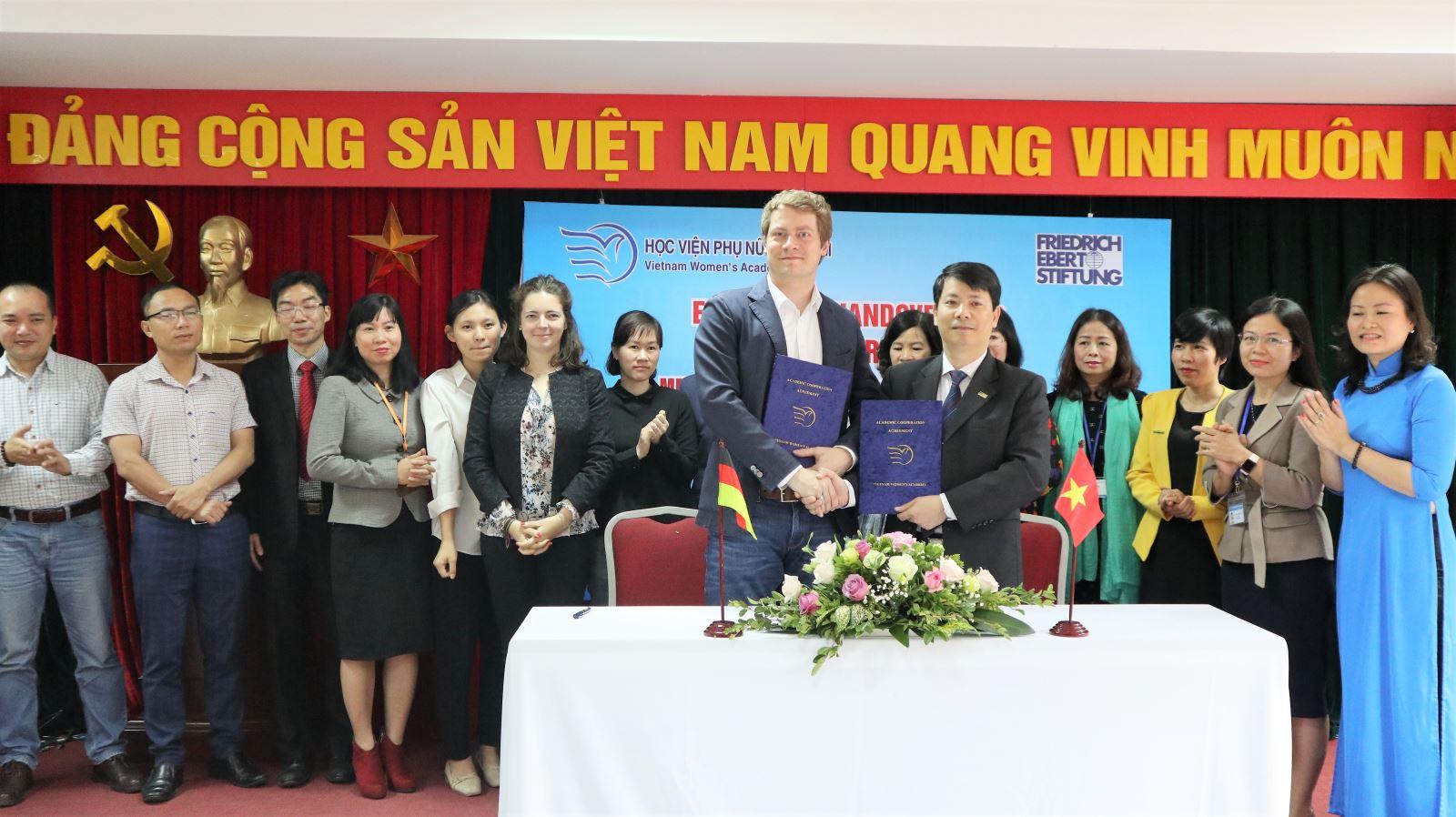 Học viện Phụ nữ Việt Nam ký kết thỏa thuận hợp tác với Viện Friedrich-Ebert-Stiftung (FES), Cộng hòa Liên bang Đức