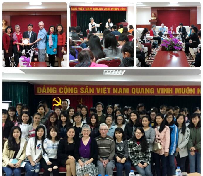 Tình nguyện viên Mỹ kết thúc chương trình làm việc tại Học viện phụ nữ Việt Nam