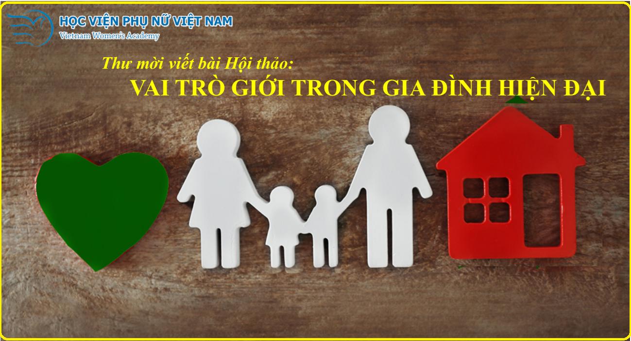 Thư mời viết bài HT khoa học QT: Vai trò Giới trong gia đình hiện đại